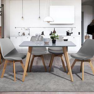 TABLE À MANGER SEULE  Table à Manger Rectangulaire - Scandinave Minimal
