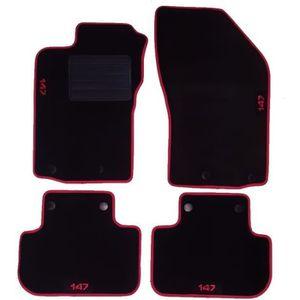Décorations+ Tapis de Sol sur Mesure Alfa Romeo 33 Quatrefoil Tapis Voiture