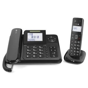 Téléphone fixe Doro Comfort 4005, Analog-DECT telephone, Wired &