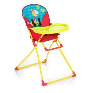 CHAISE HAUTE  HAUCK Chaise haute Mac Baby Jungle Fun - Blanc