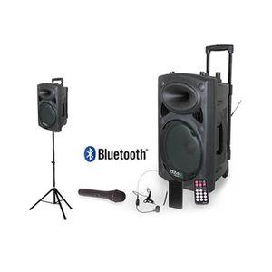 ENCEINTE ET RETOUR PORT12VHF-BT Système karaoké mobile 700W + PIED