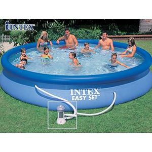 PISCINE Piscine hors-sol Intex EASY SET Ø4.57x0.91m +fi…