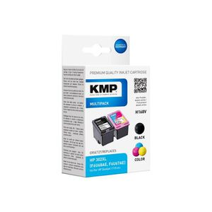 CARTOUCHE IMPRIMANTE KMP MULTIPACK H168V Pack de 2 noir, tricolore cart