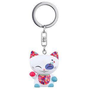 PORTE-CLÉS Porte clé chat porte bonheur Mani the Lucky Cat bl