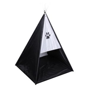 ACCESSOIRE ABRI ANIMAL Tente tipi Dogi 37x37x52 cm - Noir - Pour chien