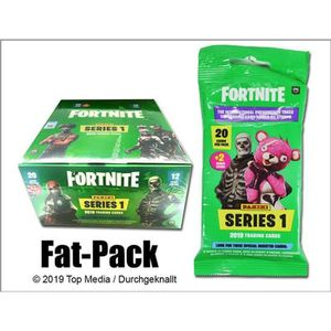 CARTE A COLLECTIONNER FORTNITE TC Pochette FAT PACK 22 Cartes (9 bases /