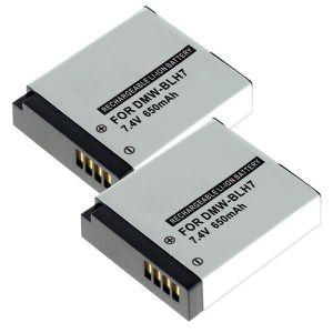 BATTERIE APPAREIL PHOTO 2x Batterie pour Panasonic Lumix DMC-GF7, DMC-GX7,