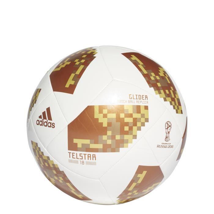 Ballon adidas FIFA World Cup Glider 2018 - blanc/or/or métalisé - Taille 5