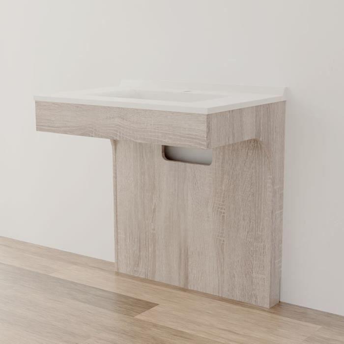Caisson simple vasque PMR ALTEA 80 - Cambrian oak