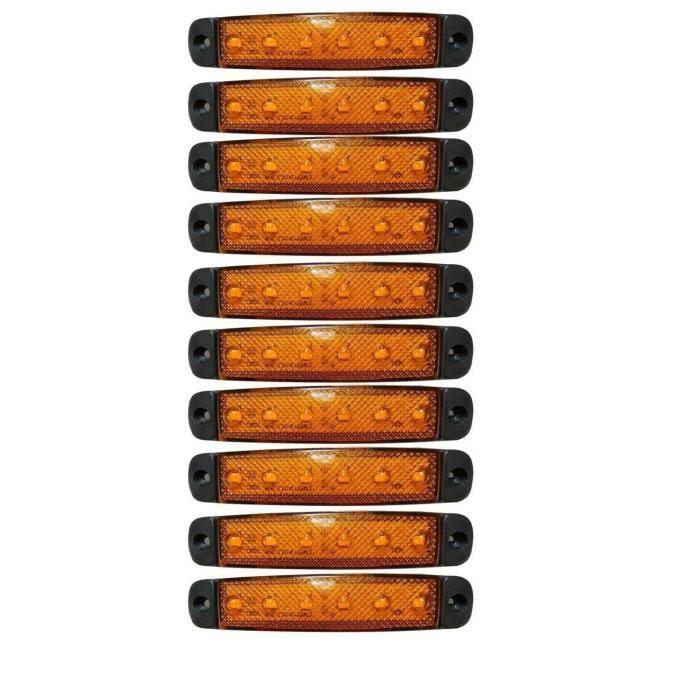 10 Orange 12 Volts Smd Led Feux De Gabarit Camion Caravane Chassis Camper
