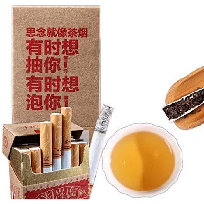 Mabanglai puerh Cigarettes de thé sans tabac et de nicotine Poids Thé Pu'er Thé noir Thé Puer Thé Chinois Thé Pu Er Thé Rouge Thé Pu