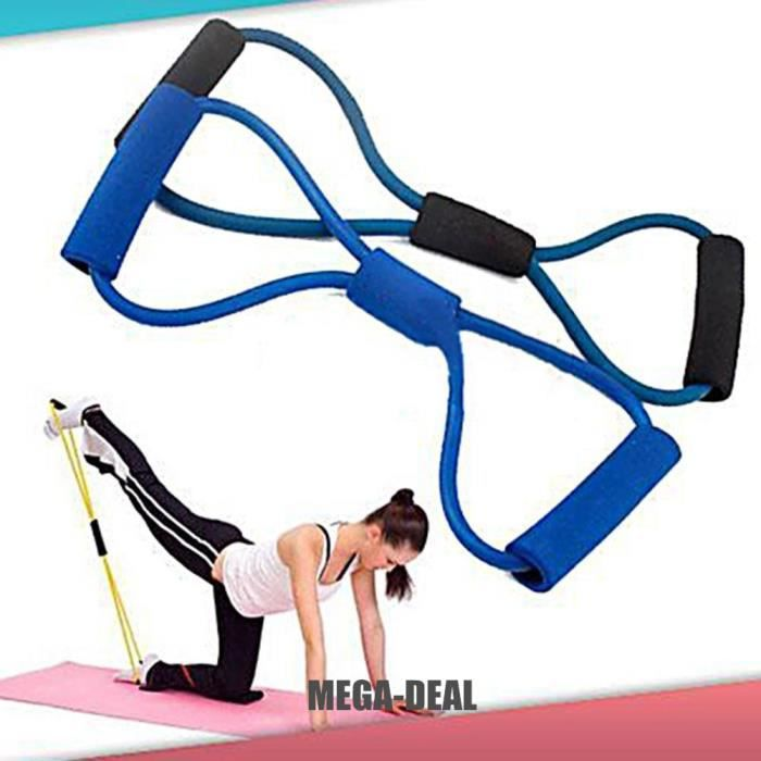 Mega-Deal Type de bande 8 résistance Fitness - Gym Yoga musculaire d'entraînement exercice matériel élastique outil Tube corde