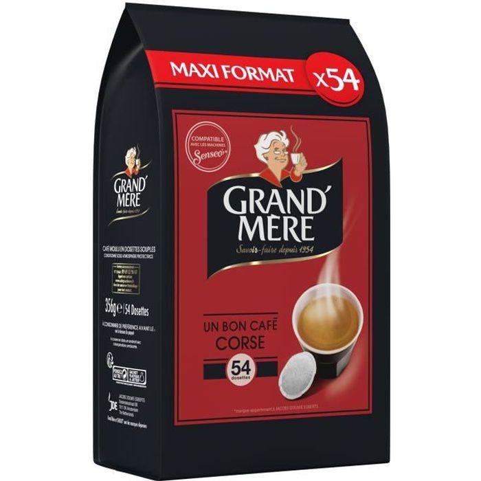 GRAND MERE Corsé - 54 Dosettes de café Compatible Senseo