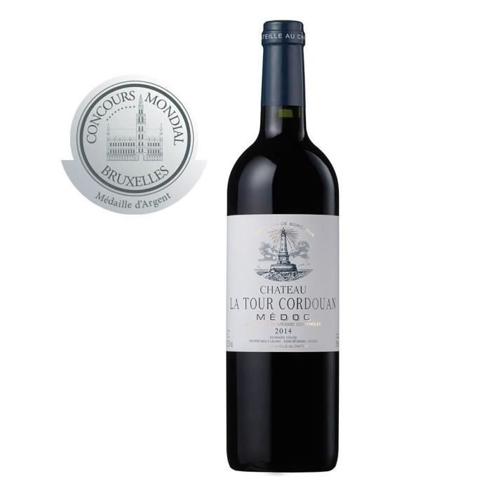 CHATEAU LA TOUR CORDOUAN - Vin Rouge AOP Medoc Bordeaux - 2014 Médaillé d'argent au concours de bruxelles: Epicerie