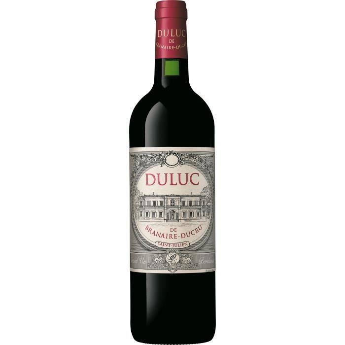 Duluc de Branaire Ducru 2014 - Saint Julien AOC - vin rouge de Bordeaux - 1 bouteille.