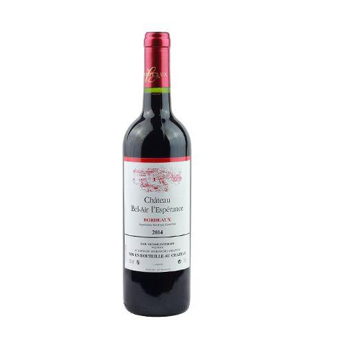 1 bouteille - Vin rouge - Tranquille - Vignobles PERCIER Château Bel-Air L'espérance Bordeaux Rouge 2014 1x300cl