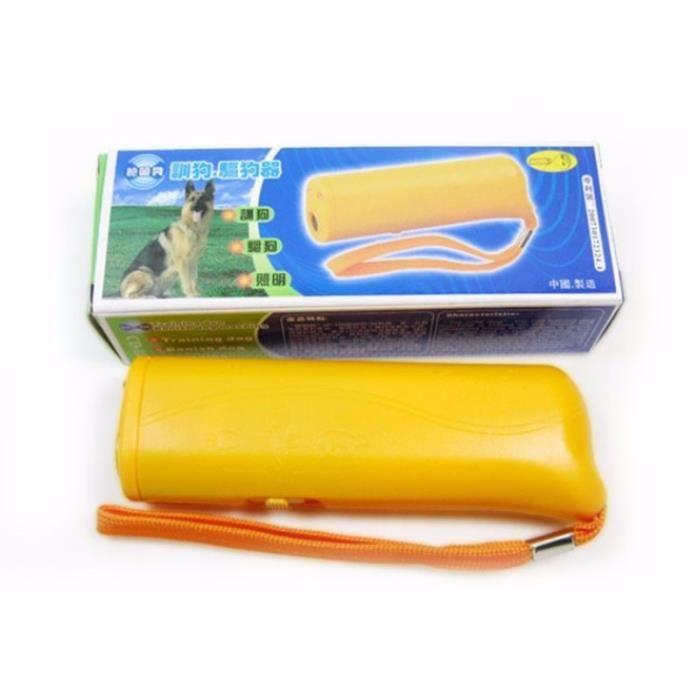 3 en 1 anti aboiements Arrêt écorce ultrasonique pour animal domestique Chien Répulsif appareil d'entraînement Trainer avec LED