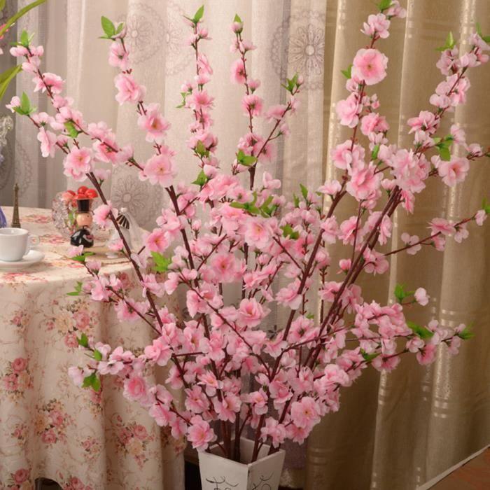 50 cm artificielle soie fleur arbre cerisier printemps prune pêche fleur branche pour bricolage mariage maison fête décor faux