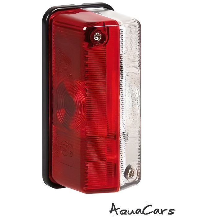 Feu de Gabarit Rectangulaire rouge blanc 12-24V