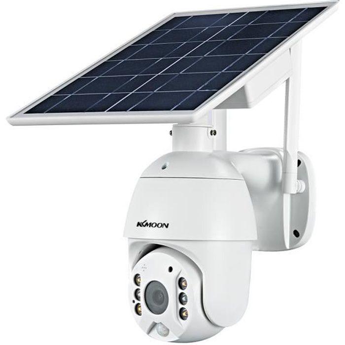 Caméra de sécurité à panneau solaire sans fil 1080P Caméra de surveillance à batterie rechargeable étanche extérieure 2MP