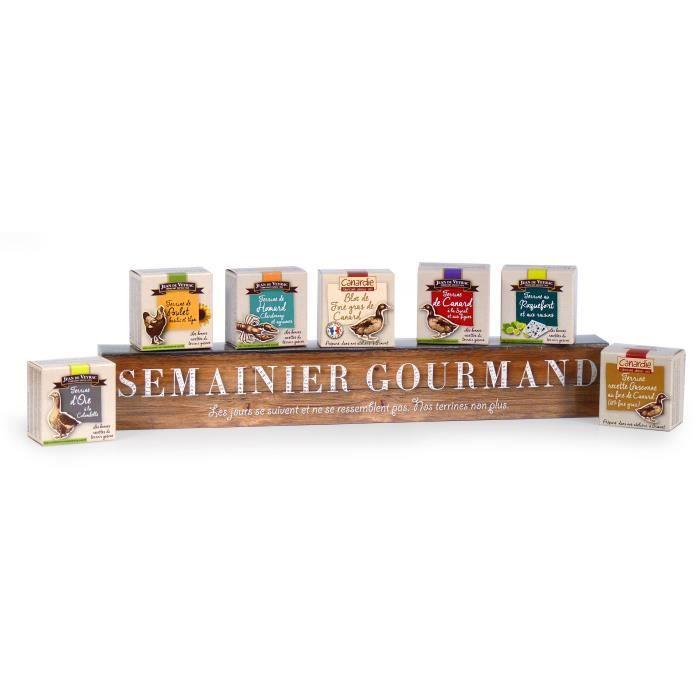 Coffret -Semainier gourmand- contient 7 terrines