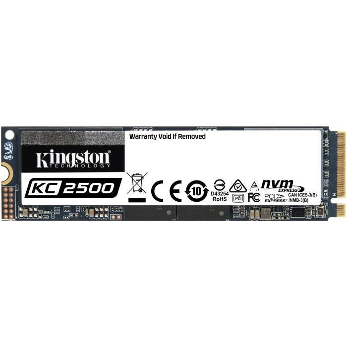 KINGSTON - SSD Interne - KC2500 - 250Go - M.2 NVMe (SKC2500M8/250G)
