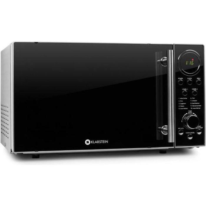 Klarstein Luminance Prime Micro-onde grill 700W 20L acier