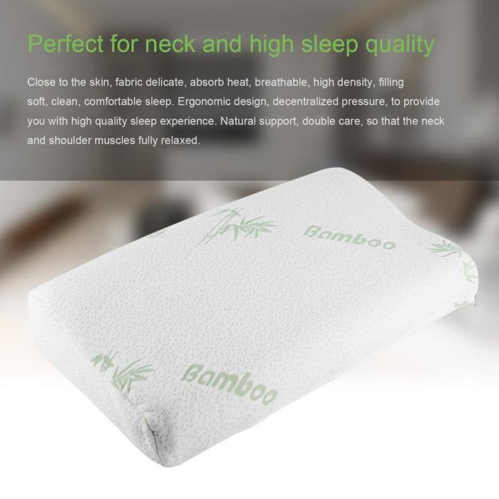 30 x 50 cm sommeil fibre de polyester lent rebond mémoire en mousse à mémoire orthopédique cou blanc oreiller soins de santé à dom