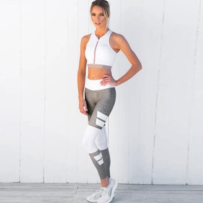 femme taille haute Sports Gym Yoga Running Leggings de fitness Pantalons Pantalons athlétiques