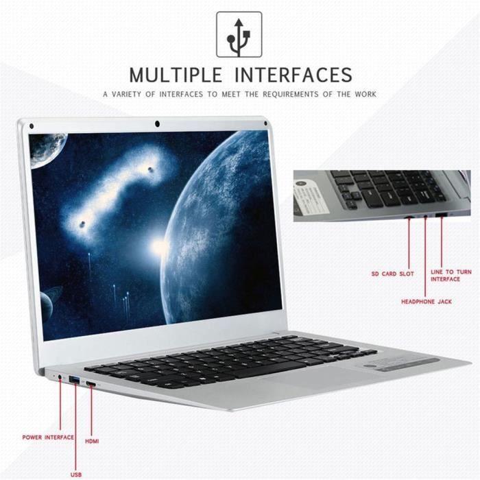 Rendement élevé d'ordinateur portable portatif mince et léger de 14 pouces de traitement de données2GB+32GB