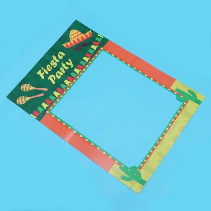 1 Pc accessoires photo à main papier carton décoration de fête photomaton cadre pour jardin plage maison
