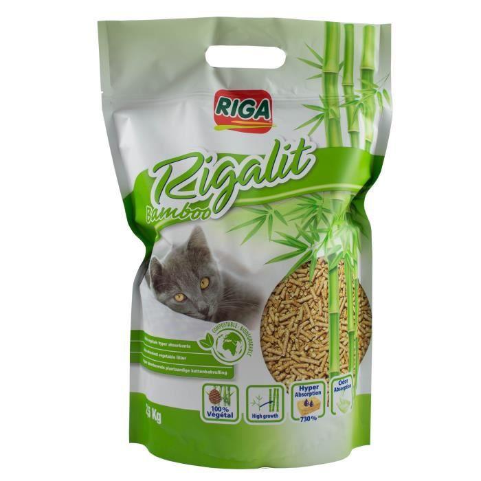 RIGA Litière au bambou - Sachet de 2,5 Kg