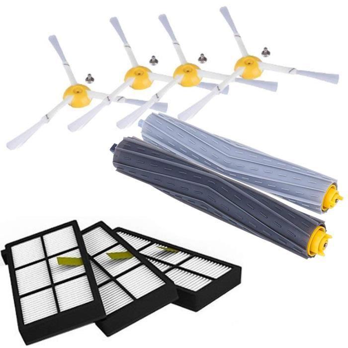 pour IRobot Roomba Kit de pieces pour la serie 800 860 865 866 870 871 880 885 886 890 900 960 966 980 - Brosses et filtres