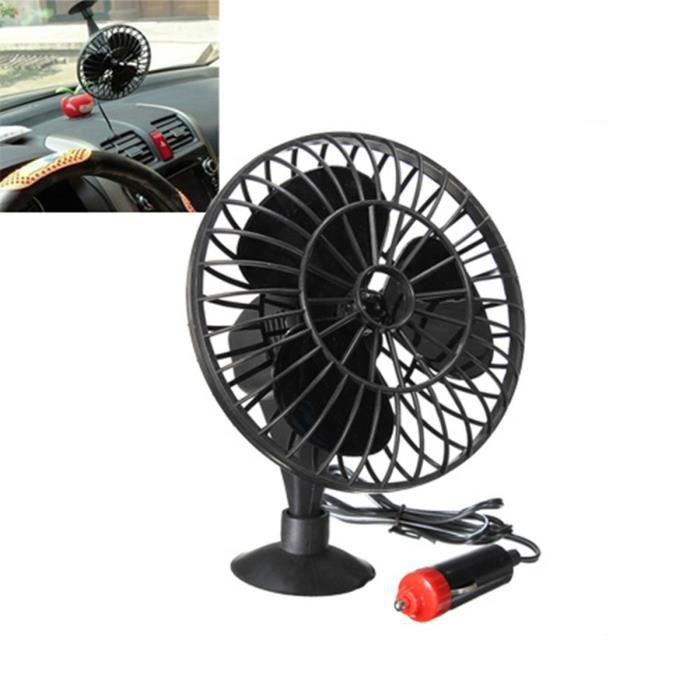 mini ventilateur auto oscilant 12v allume cigare sucker voiture noir achat vente. Black Bedroom Furniture Sets. Home Design Ideas