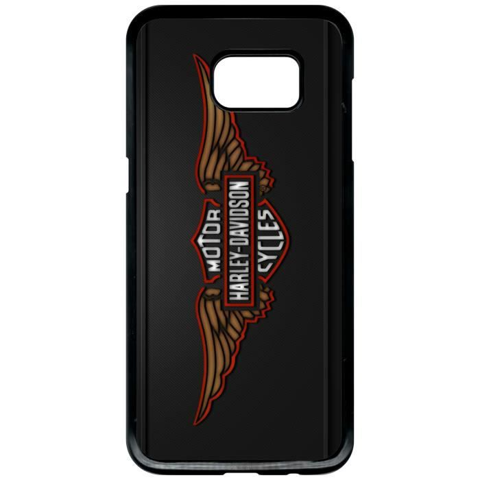 coque samsung galaxy s7 edge harley davidson effet. Black Bedroom Furniture Sets. Home Design Ideas