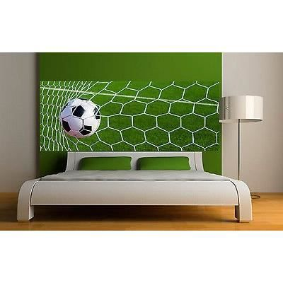 Sticker t te de lit d coration murale cage de football for Tete de lit murale