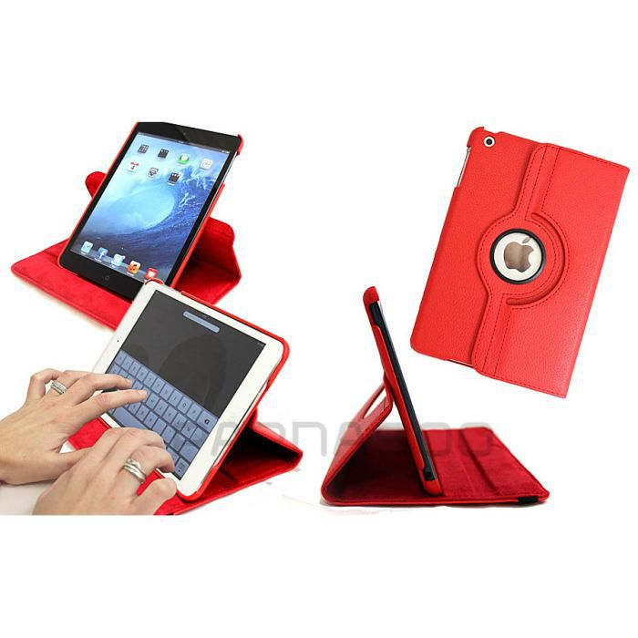 Housse etui de protection rotatif rouge ipad 2 3 prix for Housse protection ipad