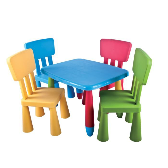 Set De Table Et Chaises Enfant Mamouth 5 Pieces