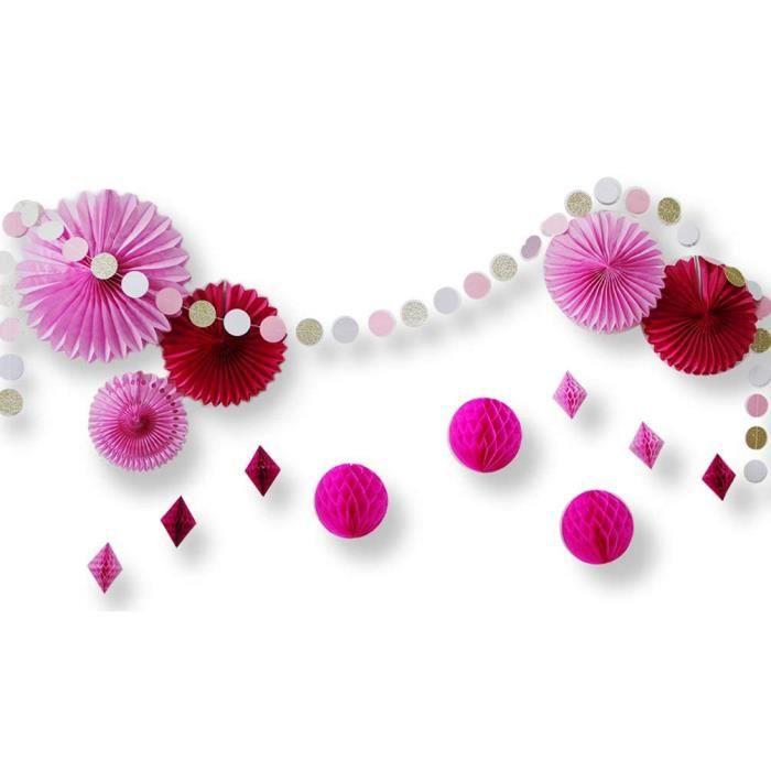Plastique Rose Hochet Baby Shower Faveurs pack de 24-Décorations de faveurs