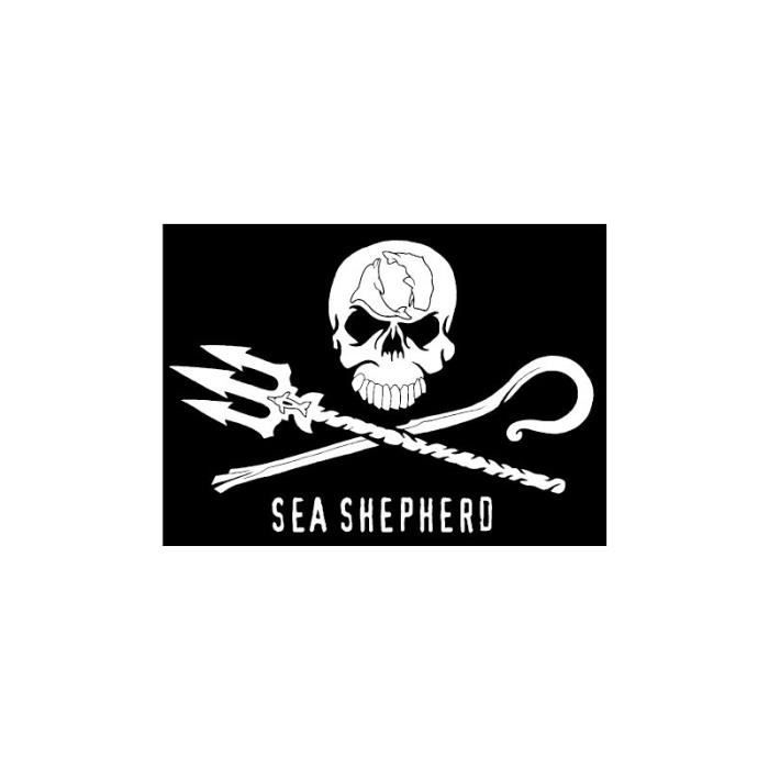Bearn Autocollant t/ête de Mort Skull Sea Shepherd Flag 1 Sticker 4 cm Taille