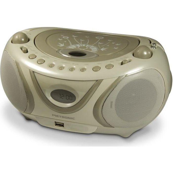 RADIO CD CASSETTE MET 477114 Radio CD-MP3 Soft grey
