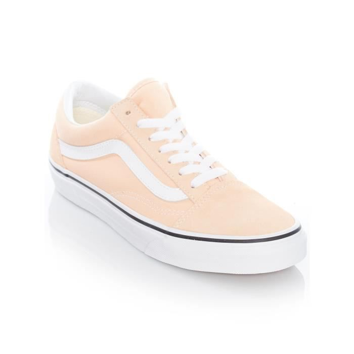Old Vans Femme Blanc Bleached Skool Chaussures True Apricot v7qEn4xZw