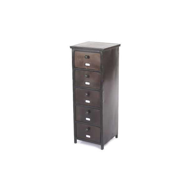 chiffonnier 5 tiroirs mumbai m tal vieilli achat. Black Bedroom Furniture Sets. Home Design Ideas