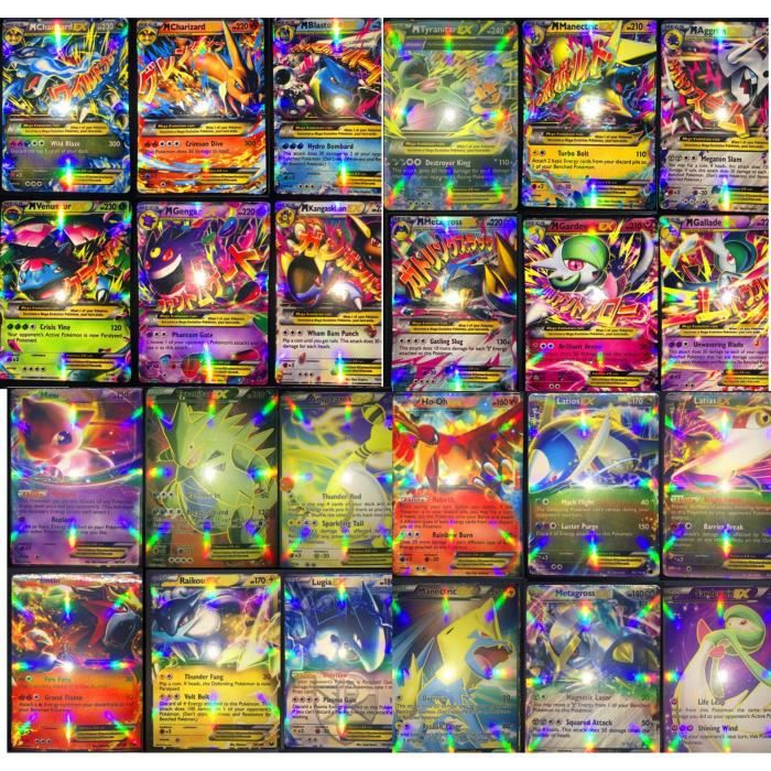 lot de 100 pokemon m ga cartes de jeu de trading ex mis. Black Bedroom Furniture Sets. Home Design Ideas