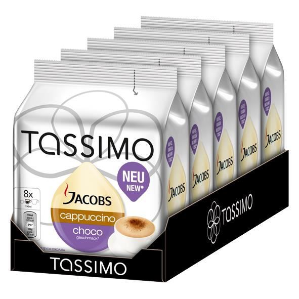 tassimo jacobs cappuccino choco 8 dosettes x 5 pi ces achat vente caf chicor e tassimo. Black Bedroom Furniture Sets. Home Design Ideas