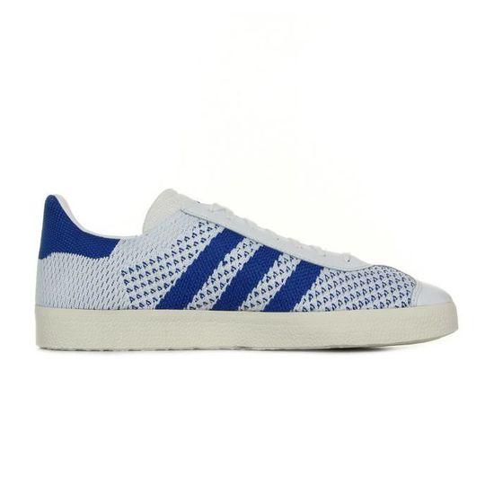 Baskets adidas Originals Gazelle Primeknit PK Blanc, bleu