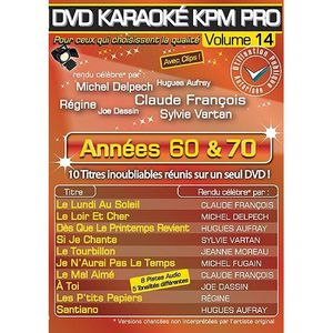 DVD MUSICAL DVD Karaoké KPM Pro - Vol. 14 : Années 60 & 70