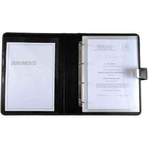 CONFÉRENCIER Porte document, format A4, en cuir, noir