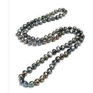 SAUTOIR ET COLLIER Femmes 8-9mm Collier perles d'eau douce style long