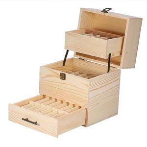 BOITE DE RANGEMENT Boîte à huile  en bois 3 étages boîte de rangement